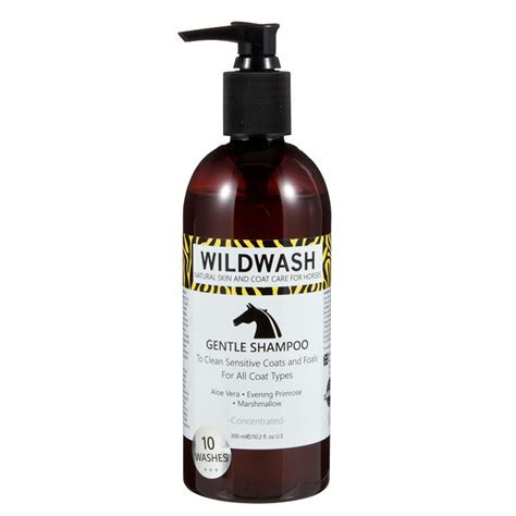 WildWash Gentle Horse Shampoo with Organic Aloe Vera, Marshmallow Root and Evening Primrose Oil