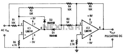 precision full wave rectifier  audio mixer circuits