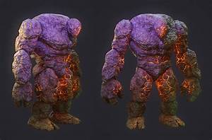 Stone Golem (textured) by ivilai on DeviantArt