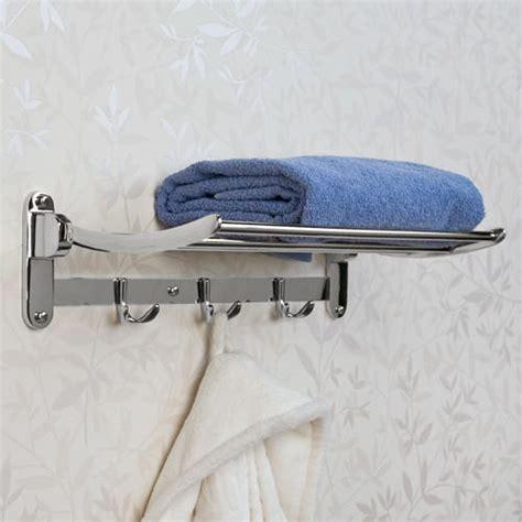 folding towel rack bathroom