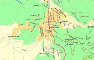 Breckenridge Mountain Map Colorado