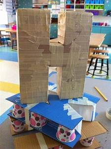 apex elementary art how to make the paper mache letters With cardboard wall letters