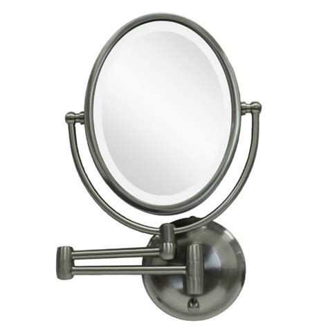 lighted makeup mirror wall mount battery operated home