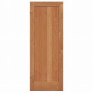 masonite 40 in x 84 in knotty alder 1 panel shaker flat With 40 inch interior barn door