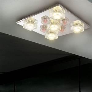 Led Beleuchtung Wohnzimmer : led deckenleuchte deckenlampe wohnzimmer beleuchtung spots effektleuchte chrom ebay ~ Buech-reservation.com Haus und Dekorationen