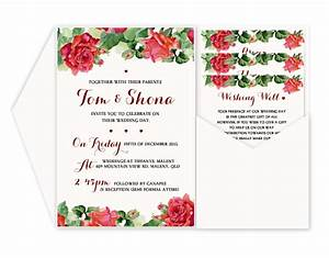 wedding invitation templates red rose wedding invitations With red rose wedding invitations template