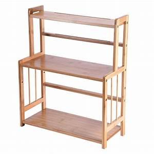 Snorda, 3-tier, Wood, Spice, Rack, Standing, Kitchen, Countertop, Organizer, Us, Stock