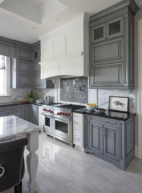 kitchen with gray cabinets why gray kitchen cabinets are so popular homes innovator 6514
