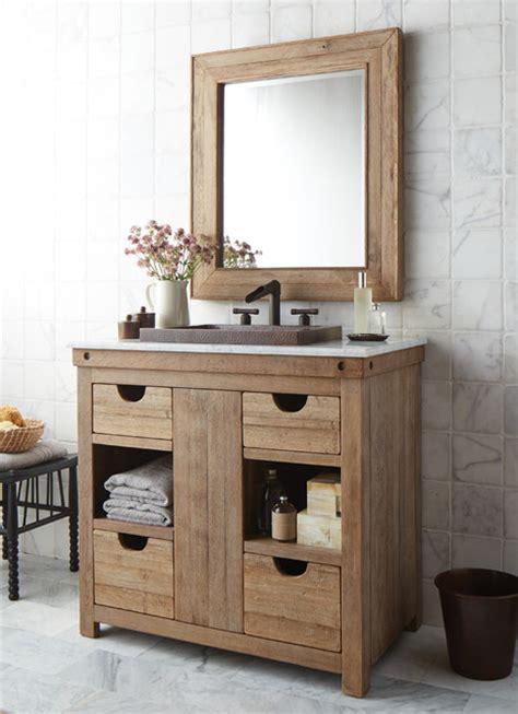 Country Bathroom Vanities Nz by Chardonnay Reclaimed Wood Bathroom Vanity Transitional