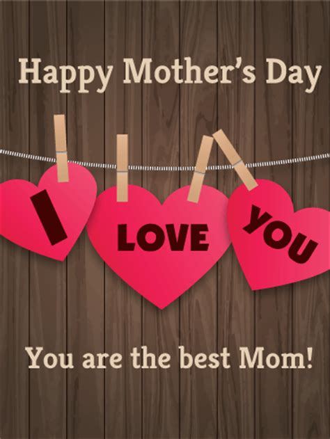 wooden design happy mothers day card birthday greeting cards davia