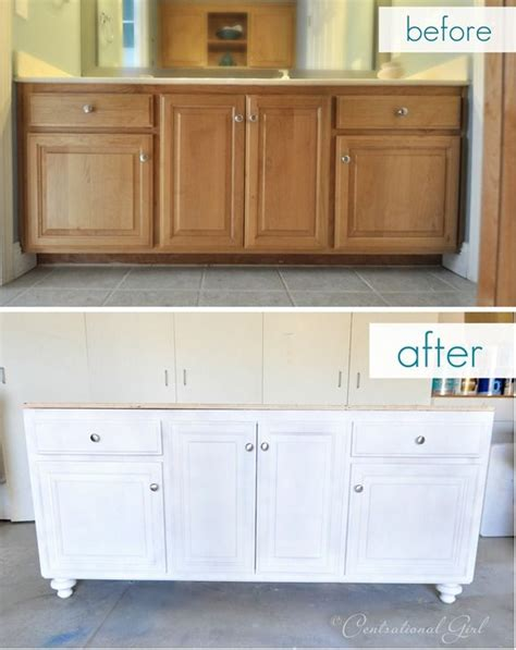 How To Refinish Bathroom Cabinets With Paint by Bathroom Vanity Upgrade For The Home Bathroom Vanity