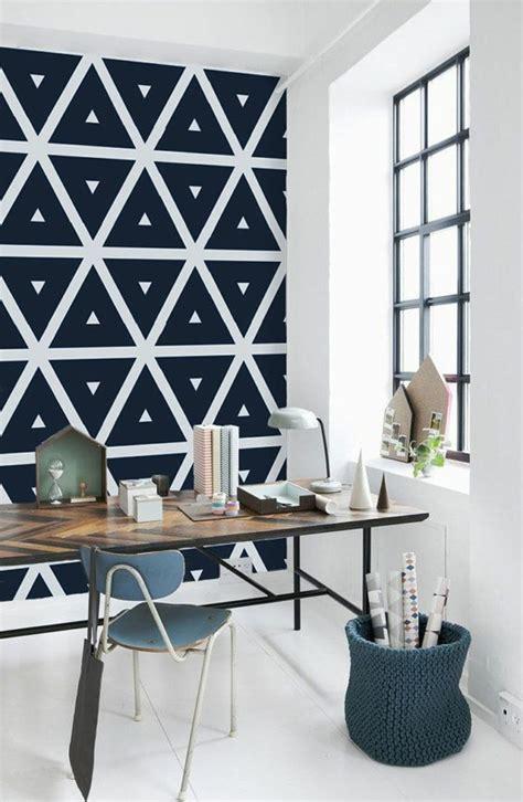 papier peint chambre moderne le papier peint géométrique en 50 photos avec idéеs