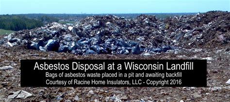asbestos vermiculite waste  wisconsin landfill racine