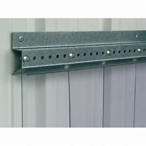 Barre Rideau Fixation Plafond : barre de fixation pour rideau lani res pvc p1141707 ~ Premium-room.com Idées de Décoration