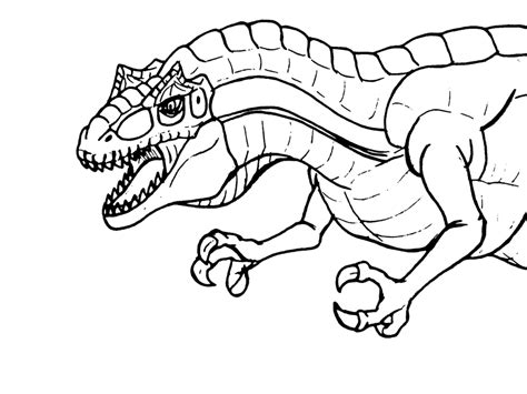 Allosaurus Kleurplaat by Allosaurus Coloring Pages Coloring Home