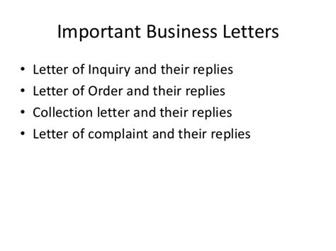 important business letters