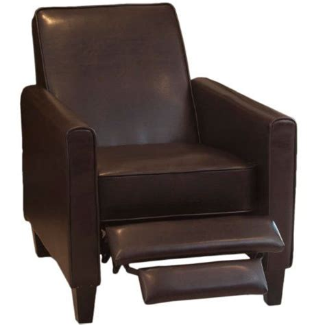 lucas brown leather recliner club chair great deal
