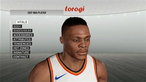 Russell Westbrook Hair Face And Body Nba 2k19
