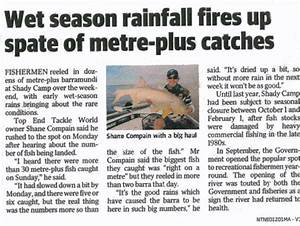 Recent NT News articles on Barra Fishing