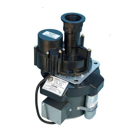 hartell 1 8 hp sink drain laundry tray pump lta 1 the