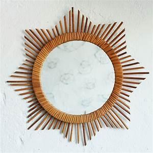 Petit Miroir Rotin : miroir rotin vintage forme etoile ou soleil atelier du petit parc ~ Melissatoandfro.com Idées de Décoration