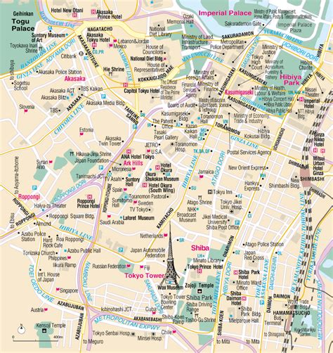 convention and tourism bureau map of roppongi tourism and travel guide