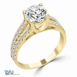 202 carat f vs1 round solitaire diamond engagement ring With 2 karat wedding ring