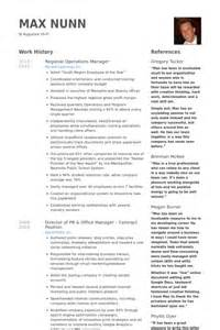 regional operations manager resume sles visualcv