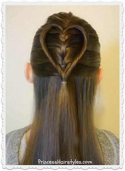 Hairstyles Heart Elastic Braid Hairstyle Twist Tutorial