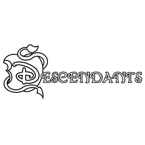 Descendants Mal Ben Kleurplaat by Leuk Voor Logo Disney Descendants