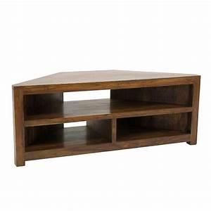 Meuble Angle Tv : meuble tv d 39 angle zen palissandre meuble bois exotique ~ Teatrodelosmanantiales.com Idées de Décoration