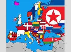 A flag maps of Europe but each flag is determined on which
