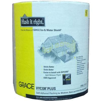 grace vycor plus 9 in x 75 ft roll fully adhered 5003106 the home depot