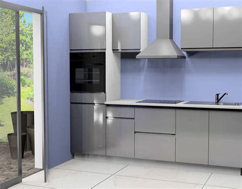 cuisine complete pas cher cuisine complete avec electromenager mana gris brillant