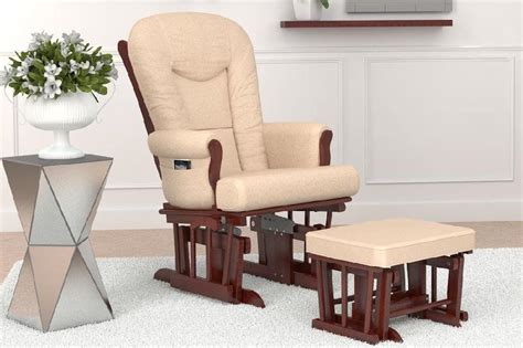 Sleigh Glider And Ottoman - home deluxe multiposition sleigh glider and ottoman