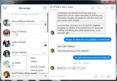 use s web based messenger as a desktop app