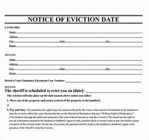 Sample eviction notice template 17 free documents in for Eviction notice template alberta free