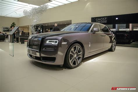 roll royce ghost geneva 2017 rolls royce ghost with paint finish