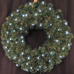 wl gwsq 02 lcw bat 2 pre lit battery operated pure white led sequoia wreath