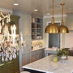 kitchen cabinets with glass sherwin williams quot escape gray quot on cabinets quot antique white 6470