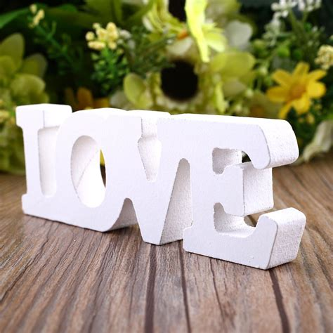 wood letters  crafts wedding woody romantic english