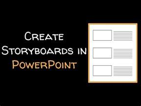 create  storyboard template  powerpoint youtube