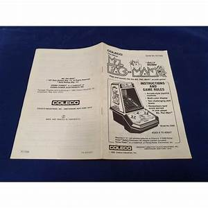 Coleco Ms Pac Man Instruction Manual Guide N U00b0 91758a