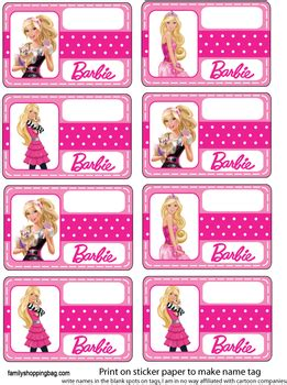 barbie name tag pictures to pin on pinterest pinsdaddy