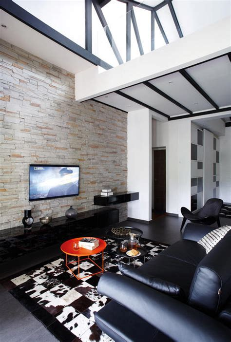 elegantly clean cut tv console  feature wall design