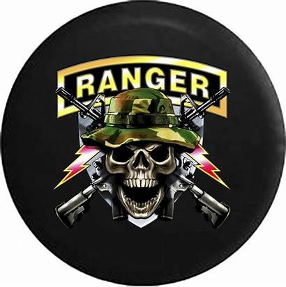 Ranger Tire Jeep Spare Wrangler Skull Army