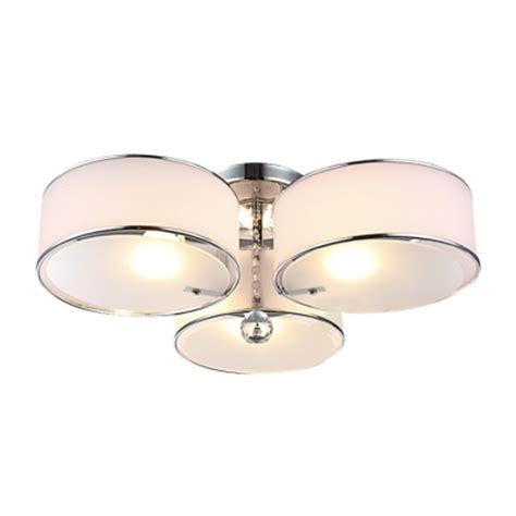 l shade ceiling fixture three lights acrylic drum shade semi flush mount ceiling