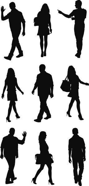 Vectores Libres De Derechos Silhouette Of People In