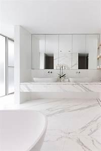 Salle De Bain Marbre Blanc : salle de bain marbre blanc pour afficher une classe intemporelle bathroom marble bathroom and ~ Nature-et-papiers.com Idées de Décoration