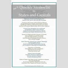 How To Quickly Memorize States And Capitals  Maintaining Motherhood